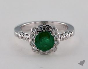 18K White Gold - 1.03ct  - Green