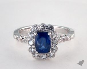 18K White Gold - 1.28ct  - Blue