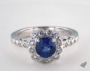 18K White Gold - 1.37ct  - Blue
