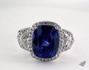 Platinum - 7.52ct  - Blue