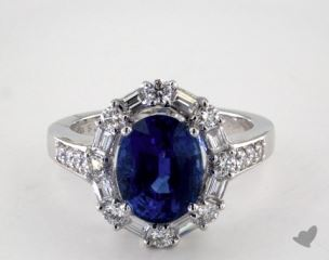 18K White Gold - 3.60ct  - Blue