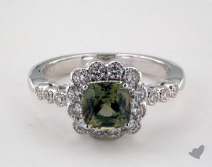 18K White Gold - 1.53ct  - Green