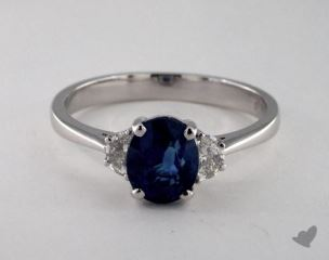 18K White Gold - 1.67ct  - Blue
