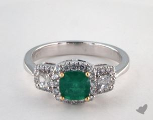 14k two tone - 0.77ct  - Green