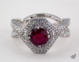 18K White Gold - 0.96ct  - Red