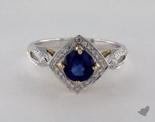 14k two tone - 1.13ct  - Blue
