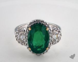 14k two tone - 4.71ct  - Green