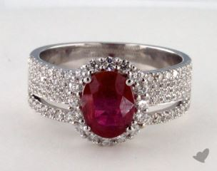 18K White Gold - 1.43ct  - Red