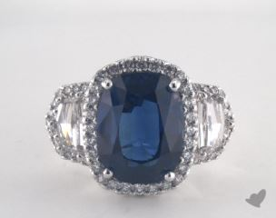 Platinum - 6.95ct  - Blue