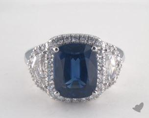 Platinum - 5.74ct  - Blue