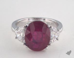 Platinum - 5.19ct  - Red