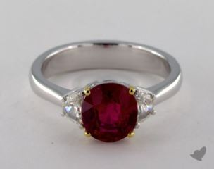 14k two tone - 1.96ct  - Red
