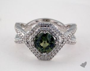18K White Gold - 1.42ct  - Green