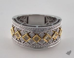 18k White & Yellow Gold 0.61ctw Yellow & Pave Diamond Ring