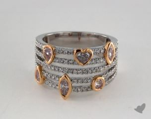 18k White & Rose Gold 1.18ctw Mixed Shape Diamond Ring