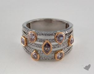 18k White and Rose Gold -  - Mixed - Pink Diamond