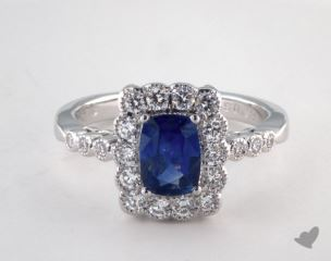 18K White Gold - 0.93ct  - Blue