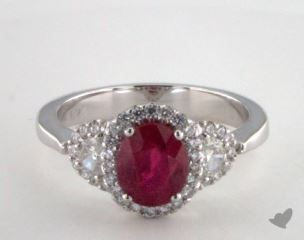 18K White Gold - 1.74ct  - Red