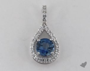 18K White Gold - 1.10ct  - Blue Pendant