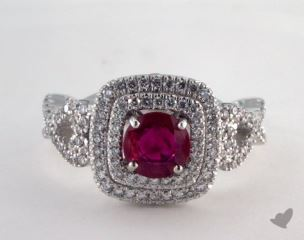 18K White Gold - 1.04ct  - Red