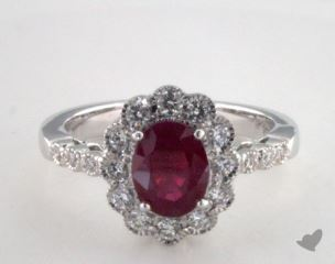 18K White Gold - 1.48ct  - Red