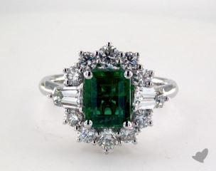 18K White Gold - 1.78ct  - Green