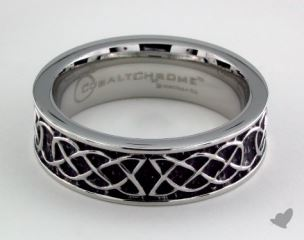 Cobalt chrome™ 7mm Comfort Fit Celtic Knot Ring