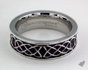 Cobalt chrome™ 7mm Comfort Fit Celtic Knot Ring