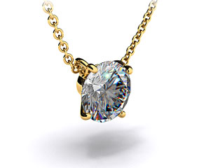 18k Yellow Gold 0.25ct H-I, SI Diamond Pendant