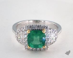 14k two tone - 1.53ct  - Green