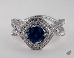 18K White Gold - 1.23ct  - Blue