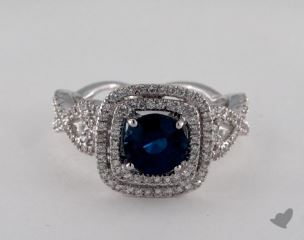 18K White Gold - 1.58ct  - Blue