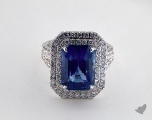 18K White Gold - 9.11ct  - Blue