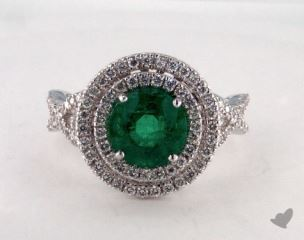 18K White Gold - 1.85ct  - Green