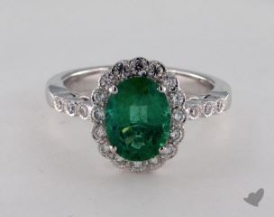 18K White Gold - 1.74ct  - Green