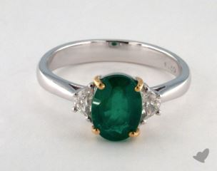 14k two tone - 1.60ct  - Green