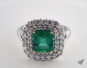 14k two tone - 2.25ct  - Green