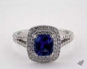 18K White Gold - 1.12ct  - Blue