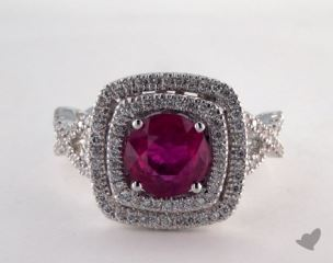 18K White Gold - 1.95ct  - Red