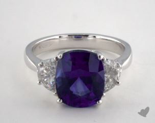 Platinum - 4.54ct  - Blue