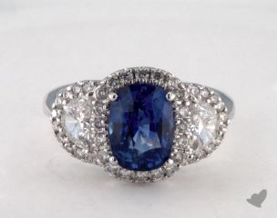 18K White Gold - 2.94ct  - Blue