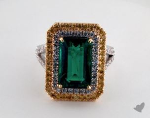 14k two tone - 5.29ct  - Green