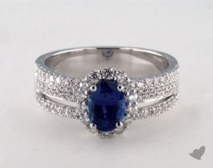 18K White Gold - 1.20ct  - Blue