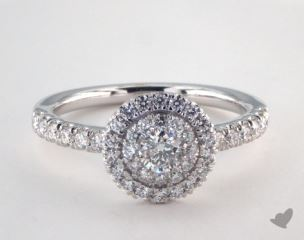 Platinum Royal Halo Single Pave Halo Engagement Ring