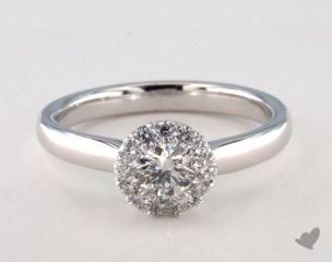 Platinum Royal Halo Classic Engagement Ring