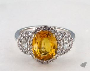 14k two tone - 2.98ct  - Yellow