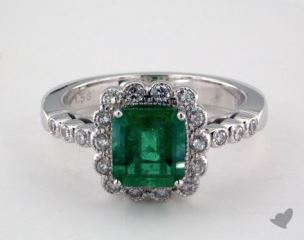 18K White Gold - 1.58ct  - Green