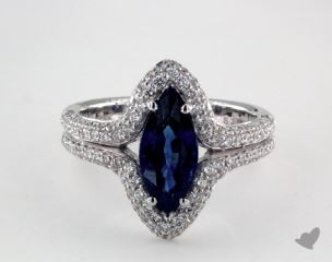 18K White Gold - 2.09ct  - Blue