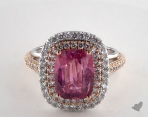 14k two tone - 3.82ct  - Pink