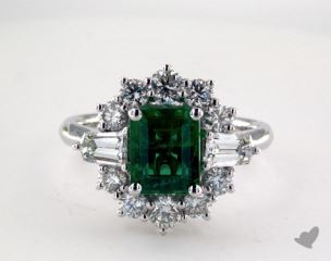 18K White Gold - 1.78ct  - Green